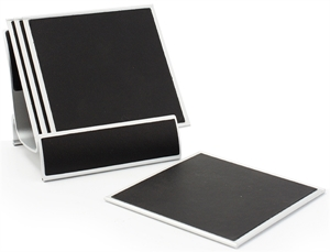 Picture of Set of 4 Aluminum Coaster & Holder L9665-64