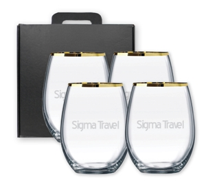 Picture of Gold Rim Stemless G0217 Sest