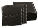 Picture of Set of 6 Leather coasters L4651