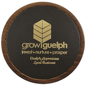 Picture of Wood & Leather Coasters L7358
